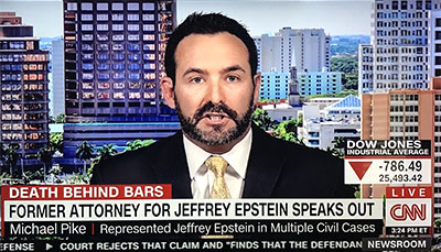 Michael Pike interview on CNN about Jeffrey Epstein