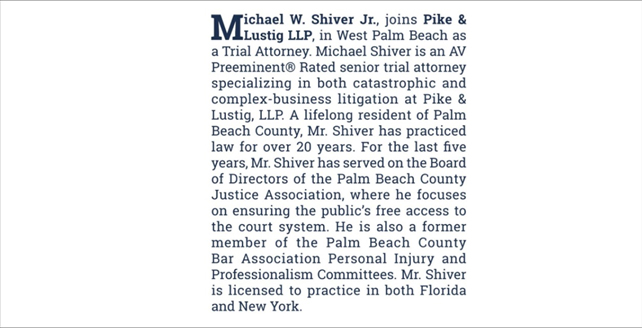 Palm Beach County Bar Association Bulletin